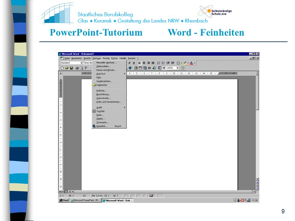 PowerPoint-TutoriumWord - Feinheiten 9