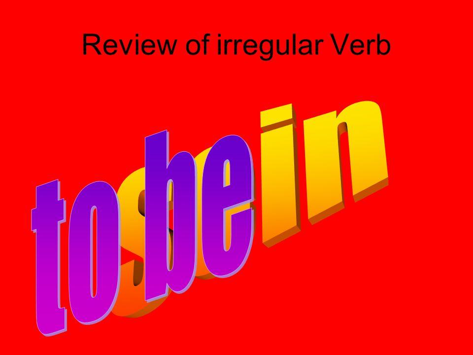 Review of irregular Verb