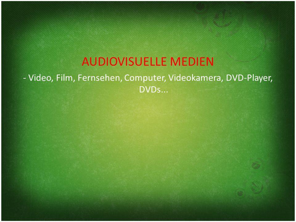 AUDIOVISUELLE MEDIEN - Video, Film, Fernsehen, Computer, Videokamera, DVD-Player, DVDs...