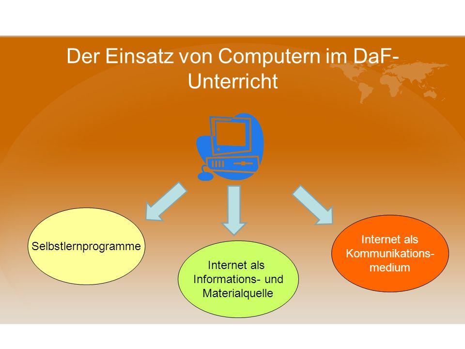 Internet als Lernmedium Präsentationsplattform Voraussetzungen,Möglichkeiten,Grenzen Webquest kreatives Schreiben im Internet Kooperation im Internet