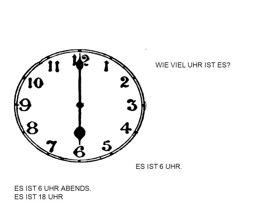 Es ist zehn Uhr fünfzehn. Es ist viertel nach zehn