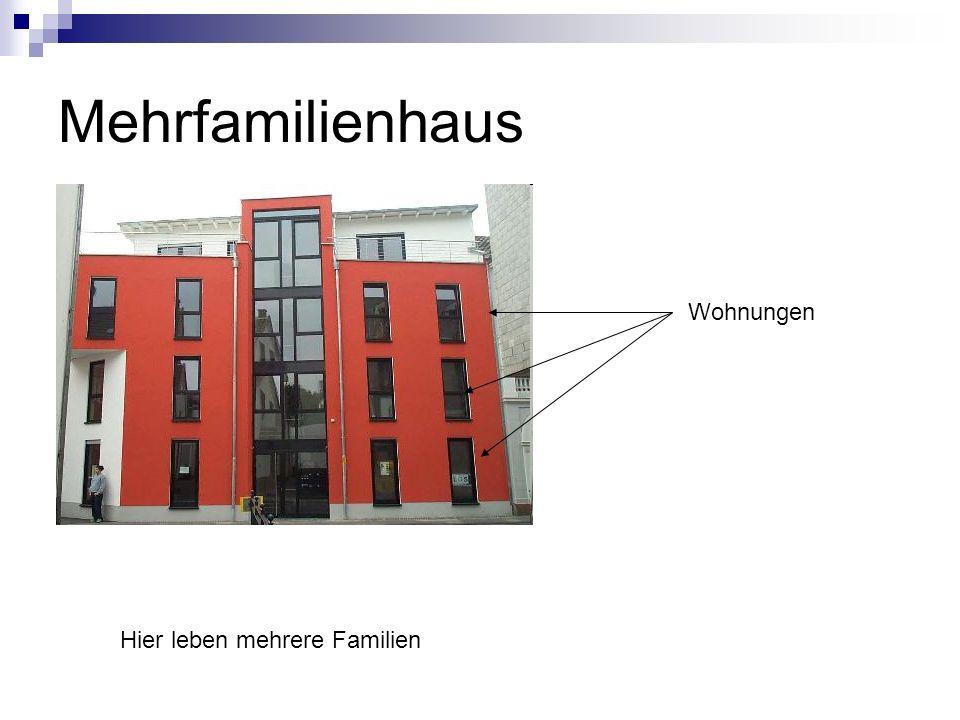 Mehrfamilienhaus Wohnungen Hier leben mehrere Familien