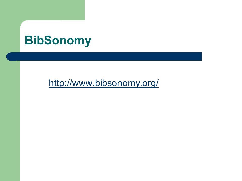 BibSonomy http://www.bibsonomy.org/