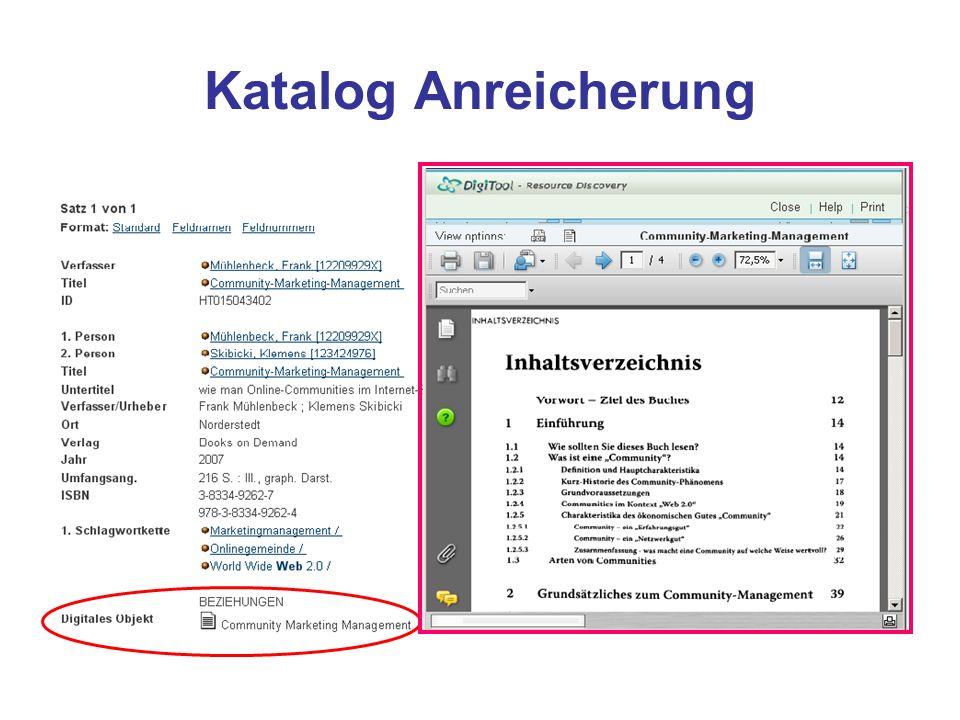 Übersicht der Kataloge z. Zt. 138 Kataloge eingearbeitet