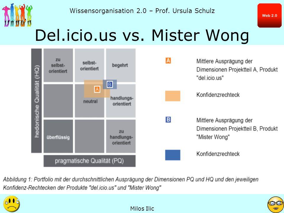 Wissensorganisation 2.0 – Prof.Ursula Schulz Del.icio.us vs.