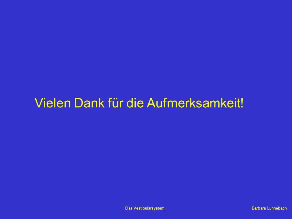 Barbara LunnebachDas Vestibularsystem Vielen Dank für die Aufmerksamkeit!