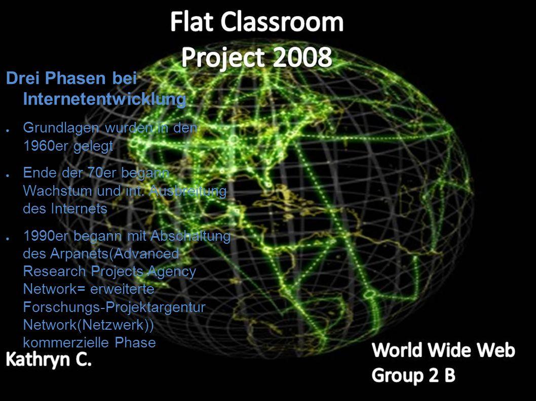 Wer hat's erfunden ? Das eigentliche Internet entstand 1969 aus einem Projekt des Verteidigungsministeriums Timothy Berners-Lee entwickelte das WWW (w