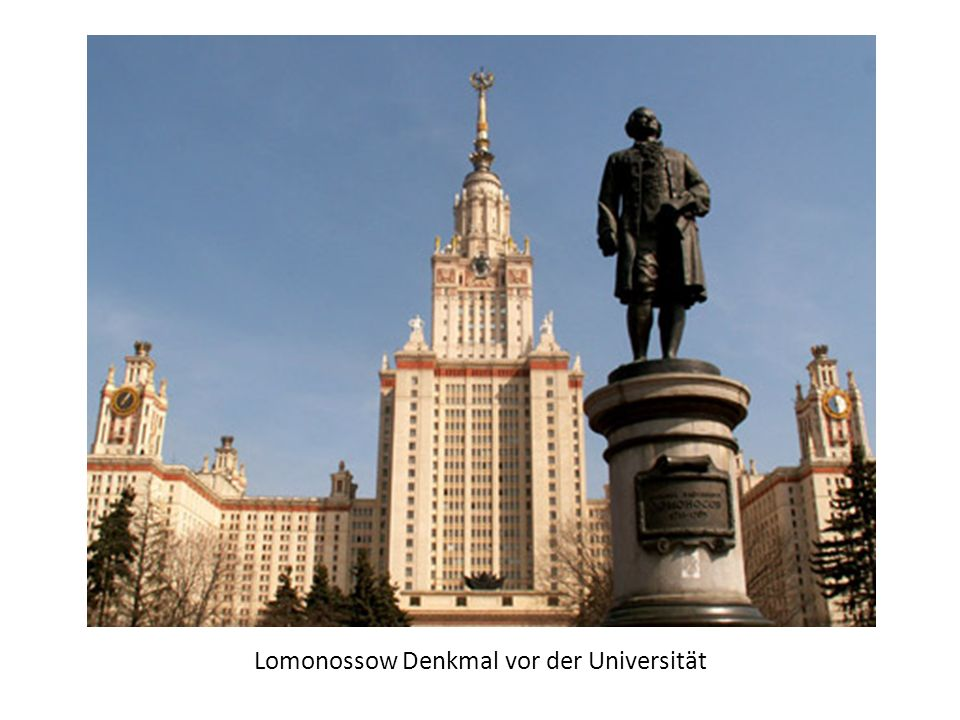 Lomonossow Denkmal vor der Universität