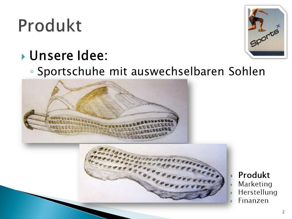 Unsere Idee: Sportschuhe mit auswechselbaren Sohlen 2 Produkt Marketing Herstellung Finanzen