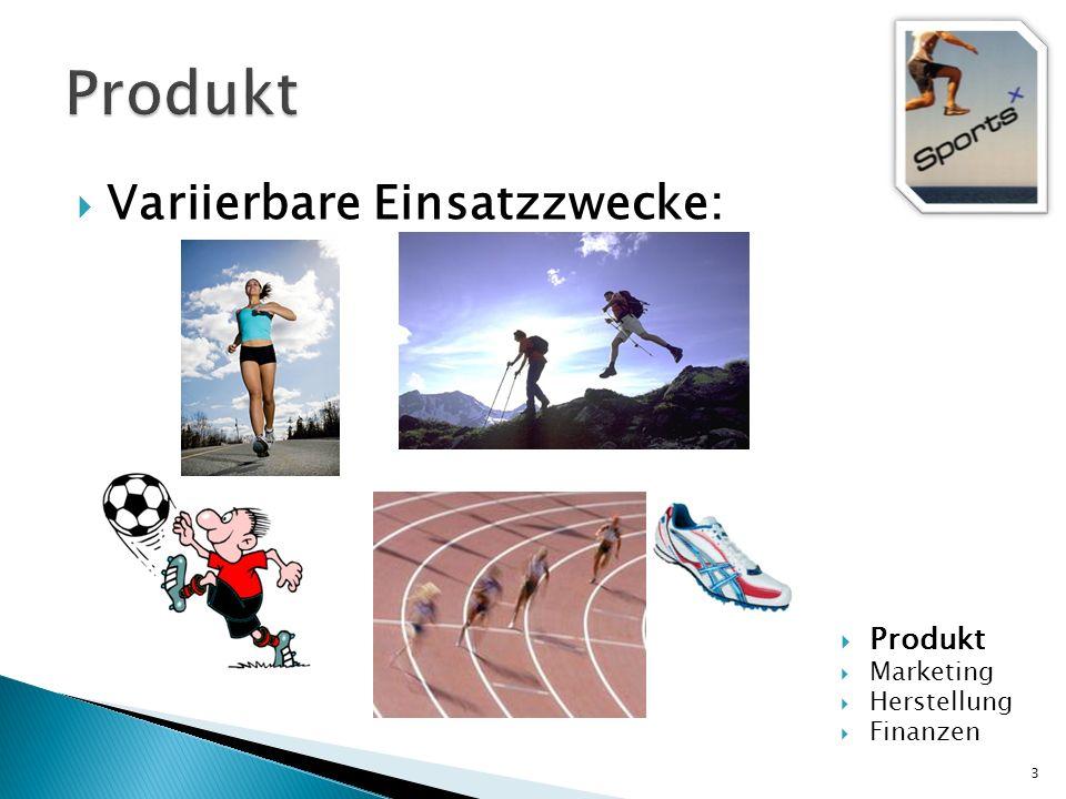 Variierbare Einsatzzwecke: 3 Produkt Marketing Herstellung Finanzen