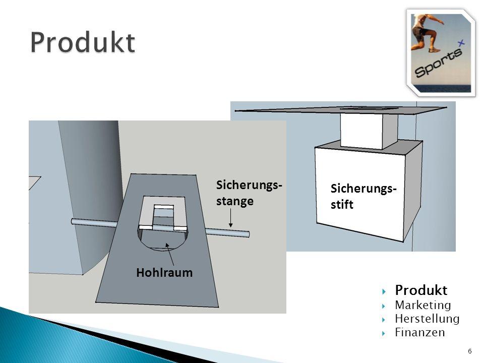 6 Produkt Marketing Herstellung Finanzen Sicherungs- stange Hohlraum Sicherungs- stift