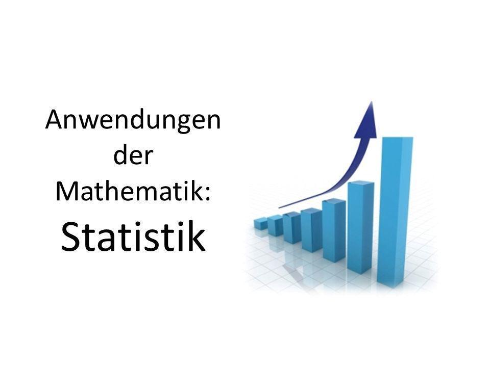 Anwendungen der Mathematik: Statistik
