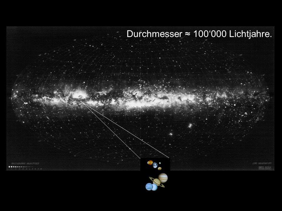 Milchstrasse Durchmesser 100000 Lichtjahre. Durchmesser 4h 10.
