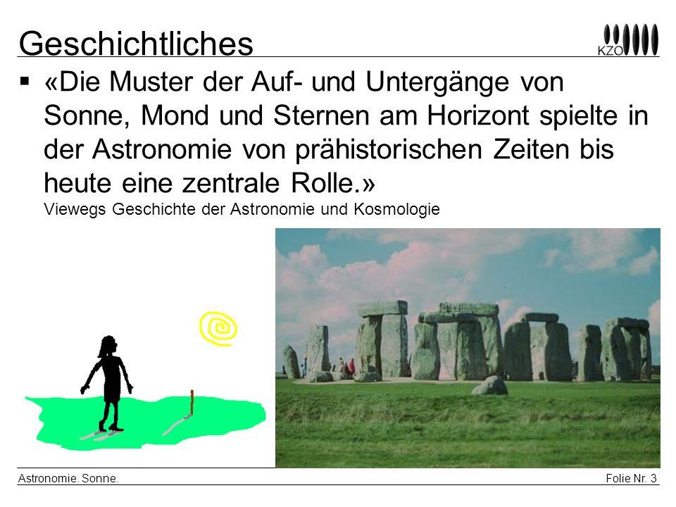 Folie Nr.4 Astronomie. Sonne. Distanz Archimedes (287–212 v.