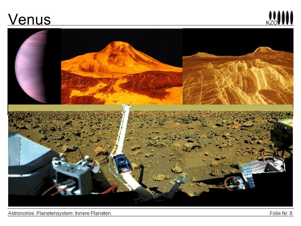 Folie Nr.9 Astronomie. Planetensystem: Innere Planeten.
