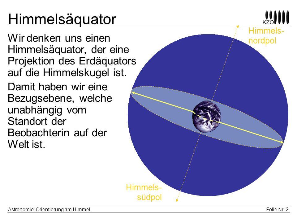 Folie Nr.3 Astronomie. Orientierung am Himmel.