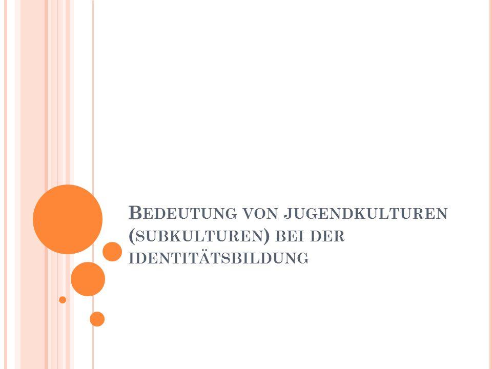 G OTHIC Strenger Drang zum Individualismus Kult: 1.