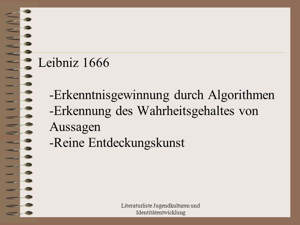Literaturliste Jugendkulturen und Identitätentwicklung Internetrecherche Stichwort: Jugendkultur Spiegel Online: http://www.spiegel.de/schulspiegel/wissen/ 0,1518,713212,00.html http://www.bagso.de/fileadmin/Aktuell/Ak tivitaeten/Jugendkultur_Farin_BAGSO.pdf youtube: http://www.youtube.com/watch?v=TG_DS hQPJyIhttp://www.youtube.com/watch?v=TG_DS hQPJyI - 9560 http://www.youtube.com/watch?v=ogif3- zlrbc&feature=&p=265F69ACBAAE5 91C&index=0&playnext=1http://www.youtube.com/watch?v=ogif3- zlrbc&feature=&p=265F69ACBAAE5 91C&index=0&playnext=1 -