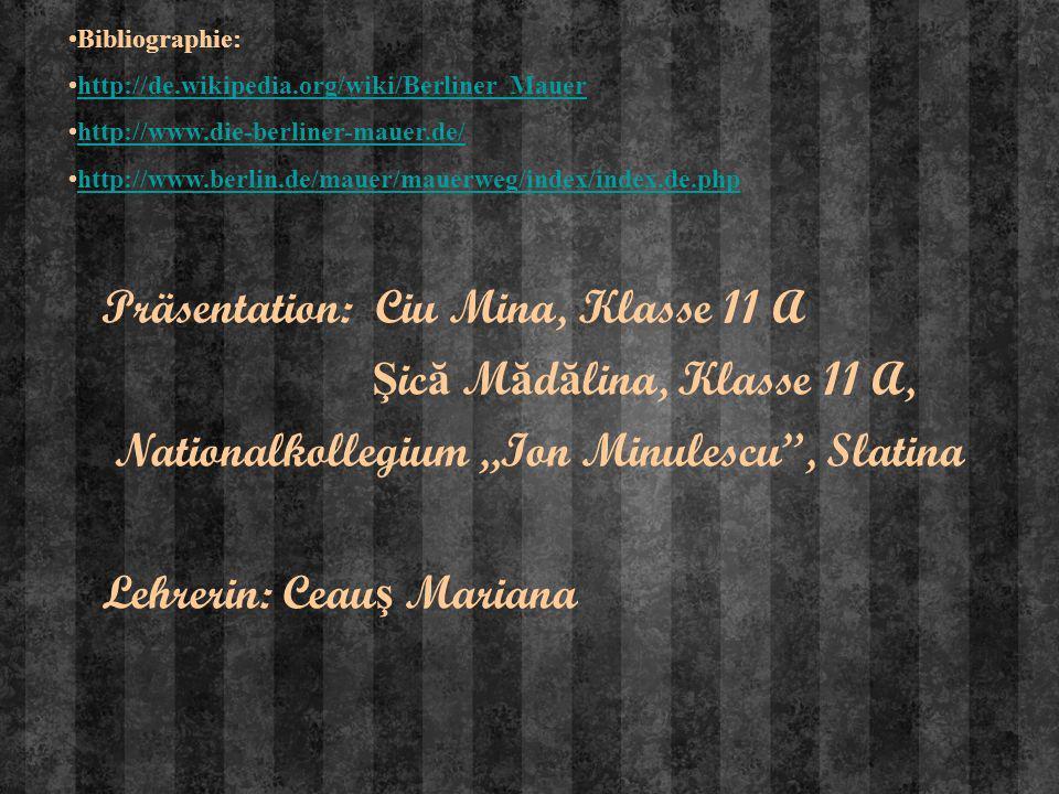 Präsentation: Ciu Mina, Klasse 11 A Ş ic ă M ă d ă lina, Klasse 11 A, Nationalkollegium,,Ion Minulescu, Slatina Lehrerin: Ceau ş Mariana Bibliographie