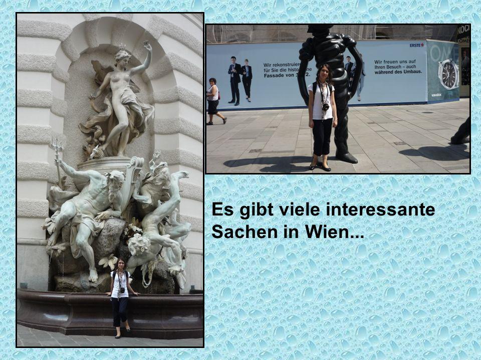 Es gibt viele interessante Sachen in Wien...