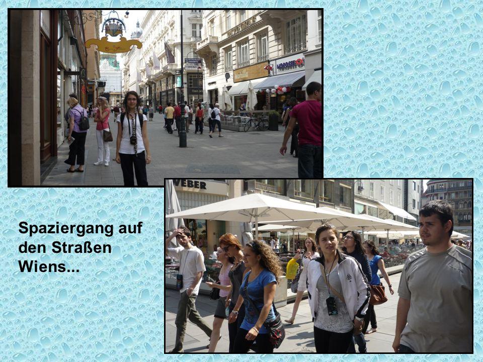 Spaziergang auf den Straßen Wiens...