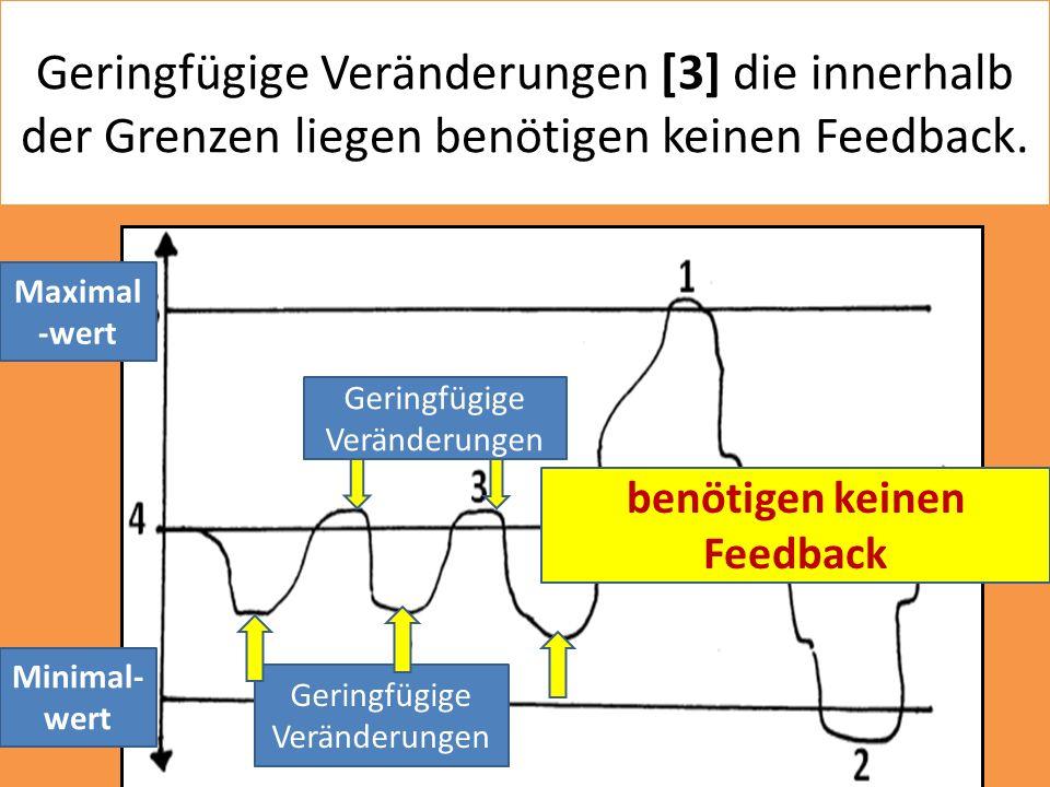 Geringfügige Veränderungen [3] die innerhalb der Grenzen liegen benötigen keinen Feedback. Minimal- wert Maximal -wert Geringfügige Veränderungen benö