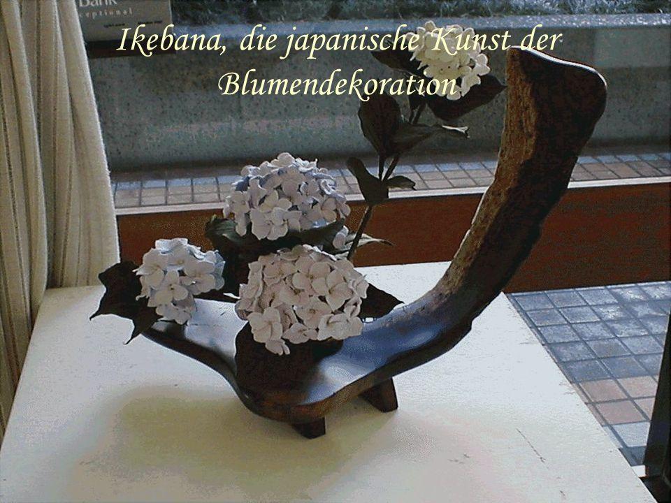 Ikebana, die japanische Kunst der Blumendekoration