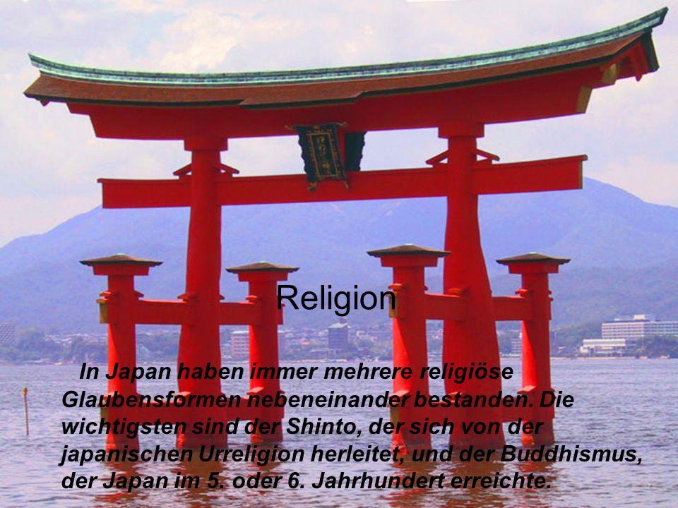 Religion In Japan haben immer mehrere religiöse Glaubensformen nebeneinander bestanden. Die wichtigsten sind der Shinto, der sich von der japanischen