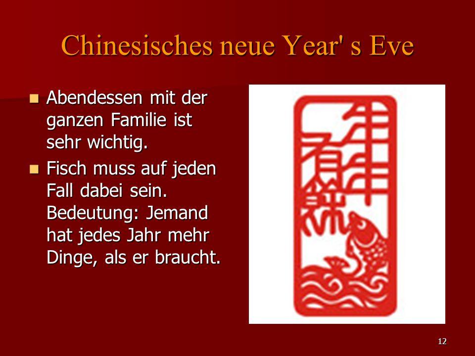12 Chinesisches neue Year s Eve Abendessen mit der ganzen Familie ist sehr wichtig.
