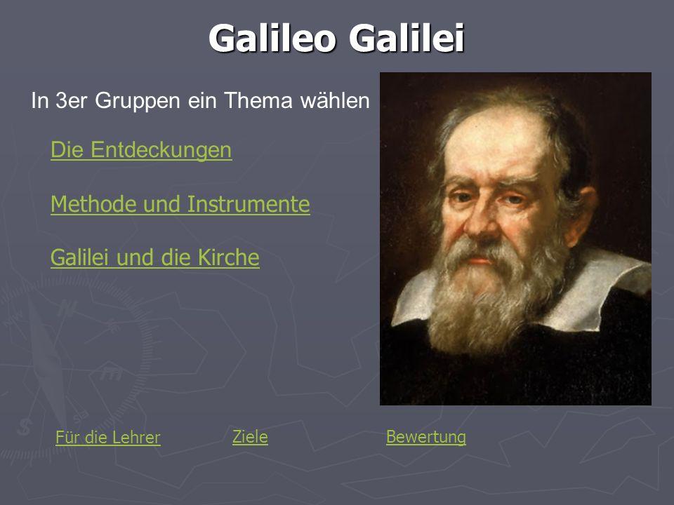 Die Entdeckungen Was hat Galilei entdeckt.