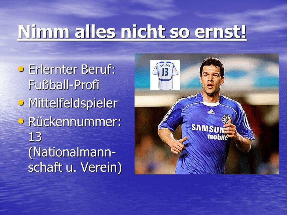 Vereine FC Chelsea/England (seit 2006) FC Bayern München (2002-2006) Bayer Leverkusen (1999-2002) 1.FC Kaiserslautern (1997-1999) Chemnitzer FC (1990-1997)* FC Karl-Marx-Stadt (1986-1990) BSG Motor Fritz Heckert Karl-Marx-Stadt (1983-1986)** FC Chelsea/England (seit 2006) FC Bayern München (2002-2006) Bayer Leverkusen (1999-2002) 1.FC Kaiserslautern (1997-1999) Chemnitzer FC (1990-1997)* FC Karl-Marx-Stadt (1986-1990) BSG Motor Fritz Heckert Karl-Marx-Stadt (1983-1986)**