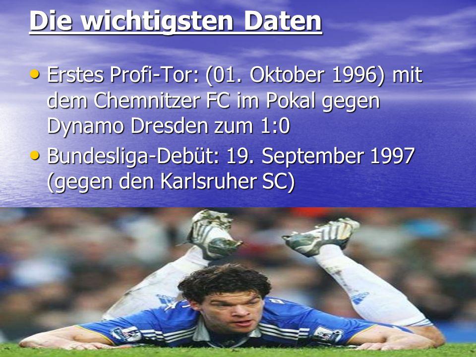 Die wichtigsten Daten Erstes Profi-Tor: (01. Oktober 1996) mit dem Chemnitzer FC im Pokal gegen Dynamo Dresden zum 1:0 Erstes Profi-Tor: (01. Oktober