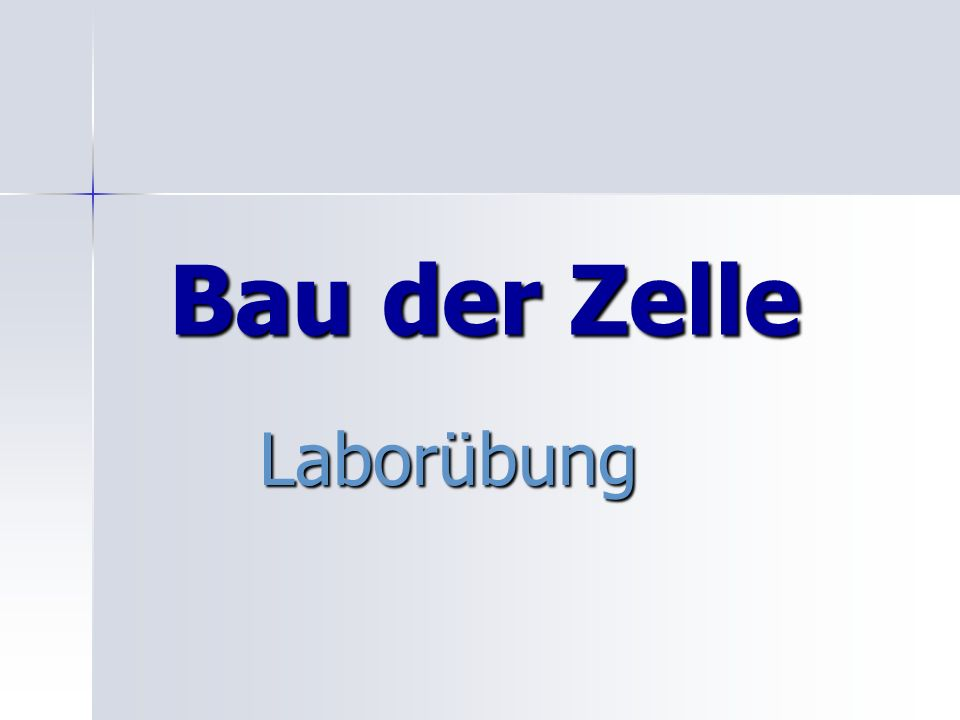 Bau der Zelle Laborübung