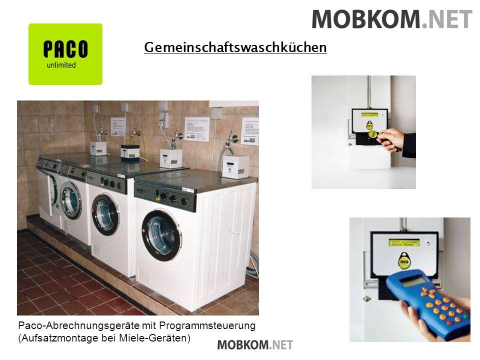 Gemeinschaftswaschküchen Paco-Abrechnungsgeräte mit Programmsteuerung (Aufsatzmontage bei Miele-Geräten)