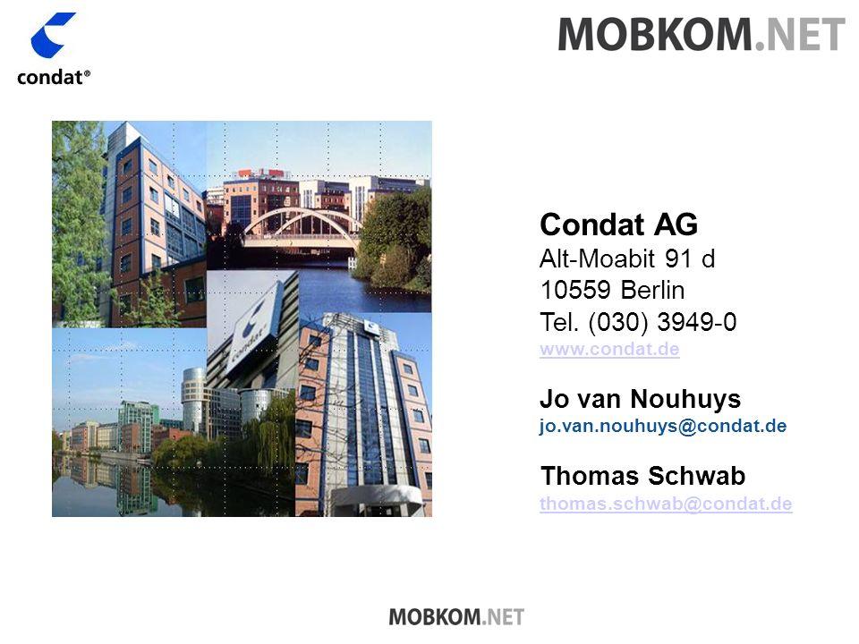 Condat AG Alt-Moabit 91 d 10559 Berlin Tel.