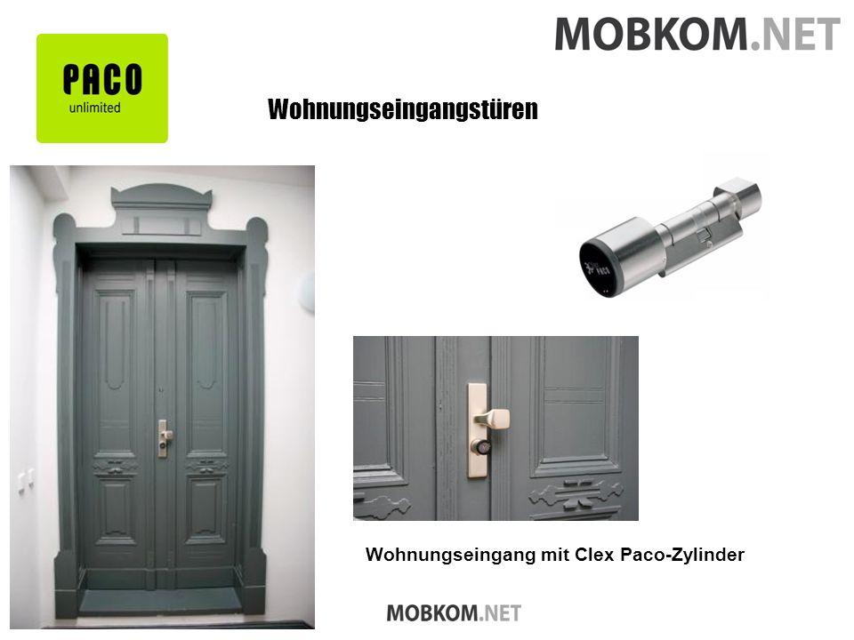 Wohnungseingangstüren Wohnungseingang mit Clex Paco-Zylinder