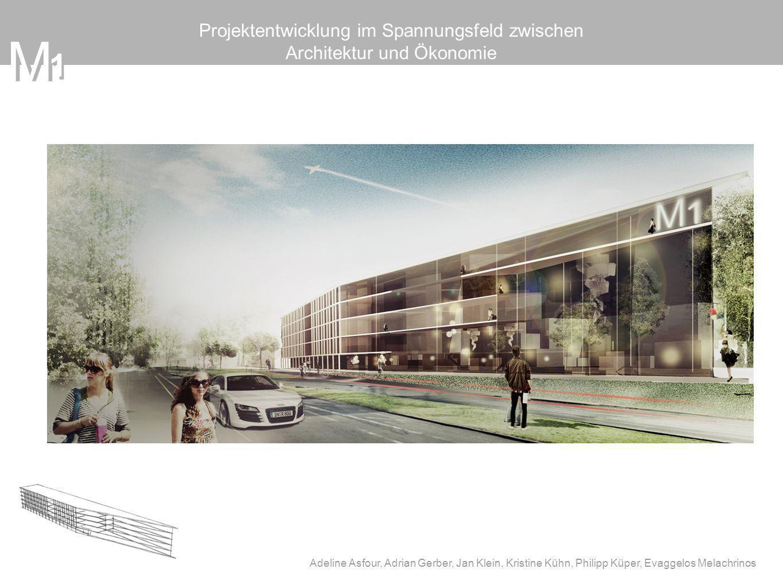 M 1 M Projektentwicklung im Spannungsfeld zwischen Architektur und Ökonomie Adeline Asfour, Adrian Gerber, Jan Klein, Kristine Kühn, Philipp Küper, Ev