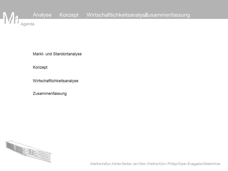 Konzept Wirtschaftlichkeitsanalyse Zusammenfassung M 1 M Adeline Asfour, Adrian Gerber, Jan Klein, Kristine Kühn, Philipp Küper, Evaggelos Melachrinos