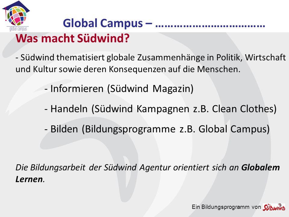 Ein Bildungsprogramm von - Was ist Globales Lernen.