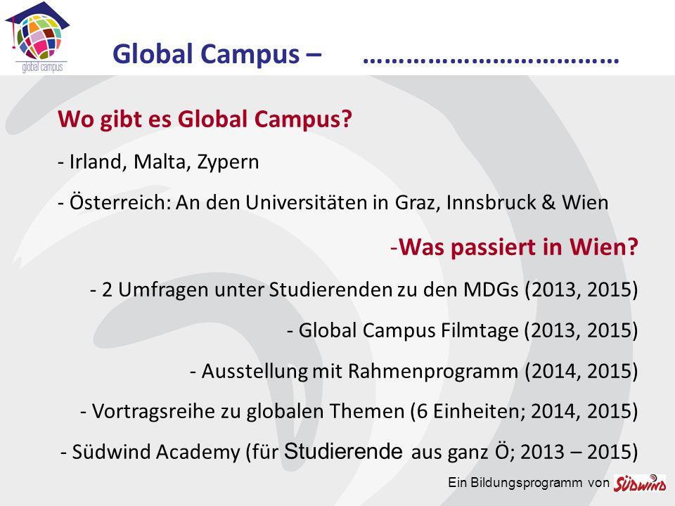 Ein Bildungsprogramm von Global Campus und Du.