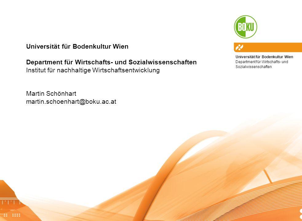 Universität für Bodenkultur Wien Department für Wirtschafts- und Sozialwissenschaften Landwirtschaft im Klimawandel | Ring-VO Ernährungssouveränität11