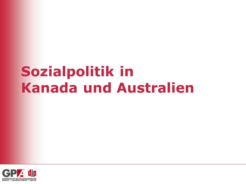 22 Gesundheit (2005) KanadaUSAÖsterreichSchweden Anteil der Gesundheitsausgaben (in % des BIP) 9,8%15,3%10,2%9,1% Davon öffentl.