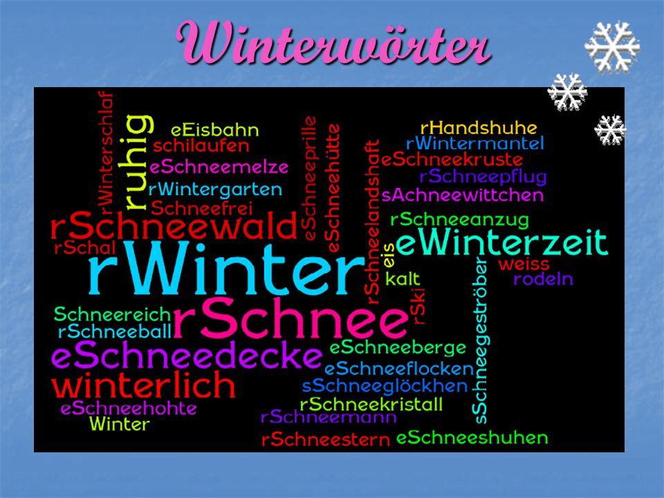 Winterwörter