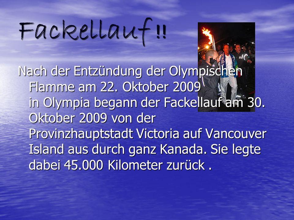 Fackellauf !! Nach der Entzündung der Olympischen Flamme am 22. Oktober 2009 in Olympia begann der Fackellauf am 30. Oktober 2009 von der Provinzhaupt