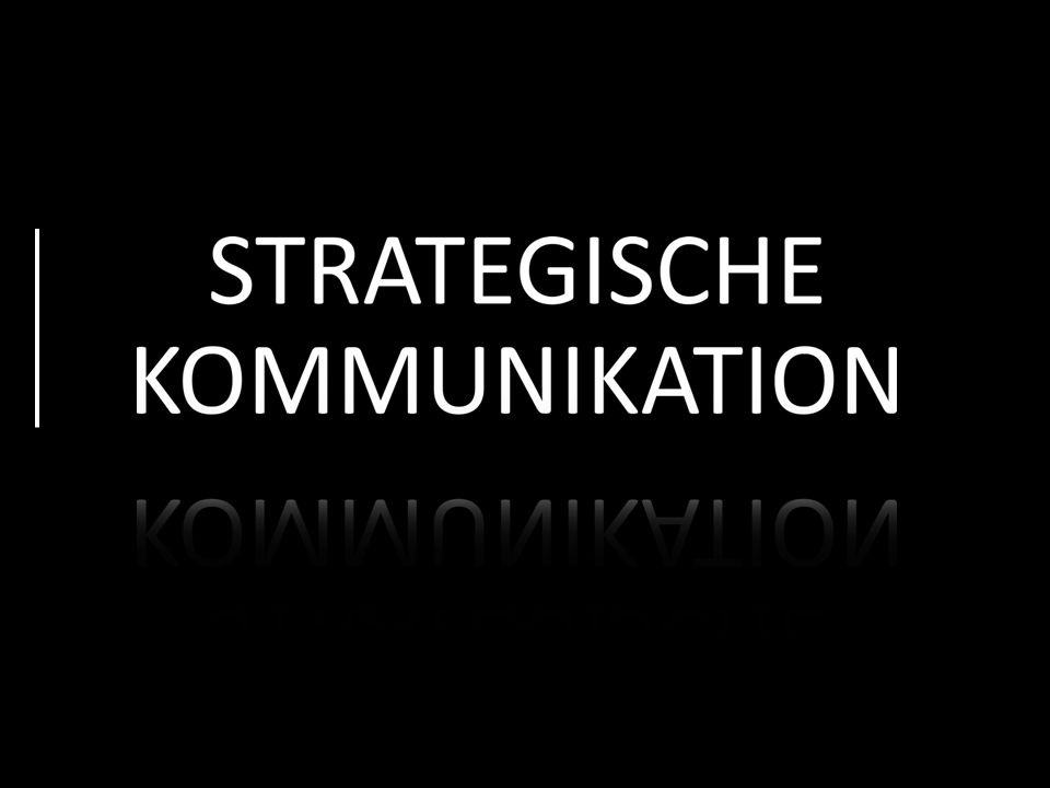 Strategische Kommunikation bedeutet effiziente Kommunikation in: Presse- und Öffentlichkeitsarbeit Internet und Social Media Marketing und Werbung Lobbyarbeit ÜBER WAS REDEN WIR.