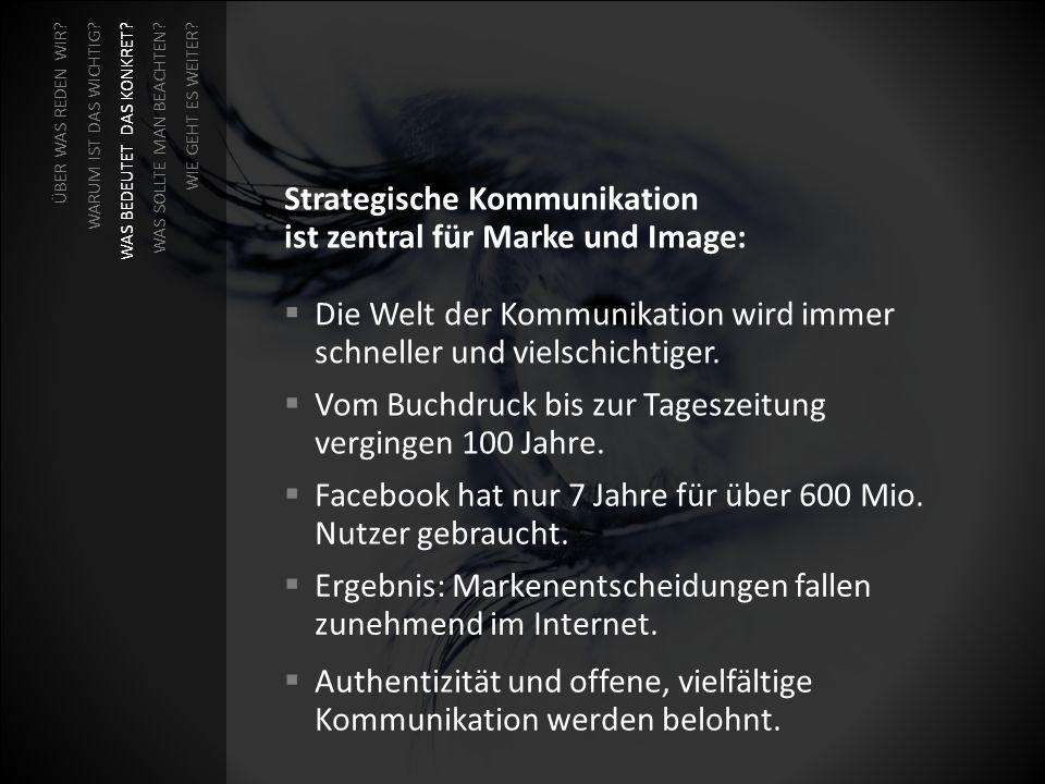 Strategische Kommunikation ist zentral für Marke und Image: Die Welt der Kommunikation wird immer schneller und vielschichtiger. Vom Buchdruck bis zur