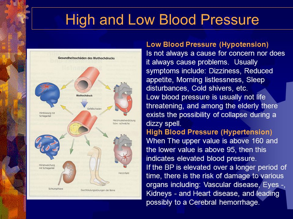 Blood Pressure (Blutdruck) Blood pressure – the pressure, the blood exerts on the wall of the actual blood vessels – and is measured is measured in te