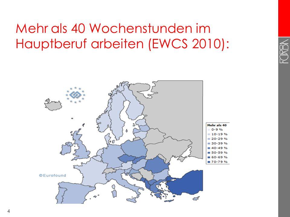 3 Europa: Nordwest-Südost Gefälle bei Arbeitszeit Nord- und Westeuropa: tendenziell eher kurze Arbeitszeiten Süd- und Osteuropa: tendenziell eher läng