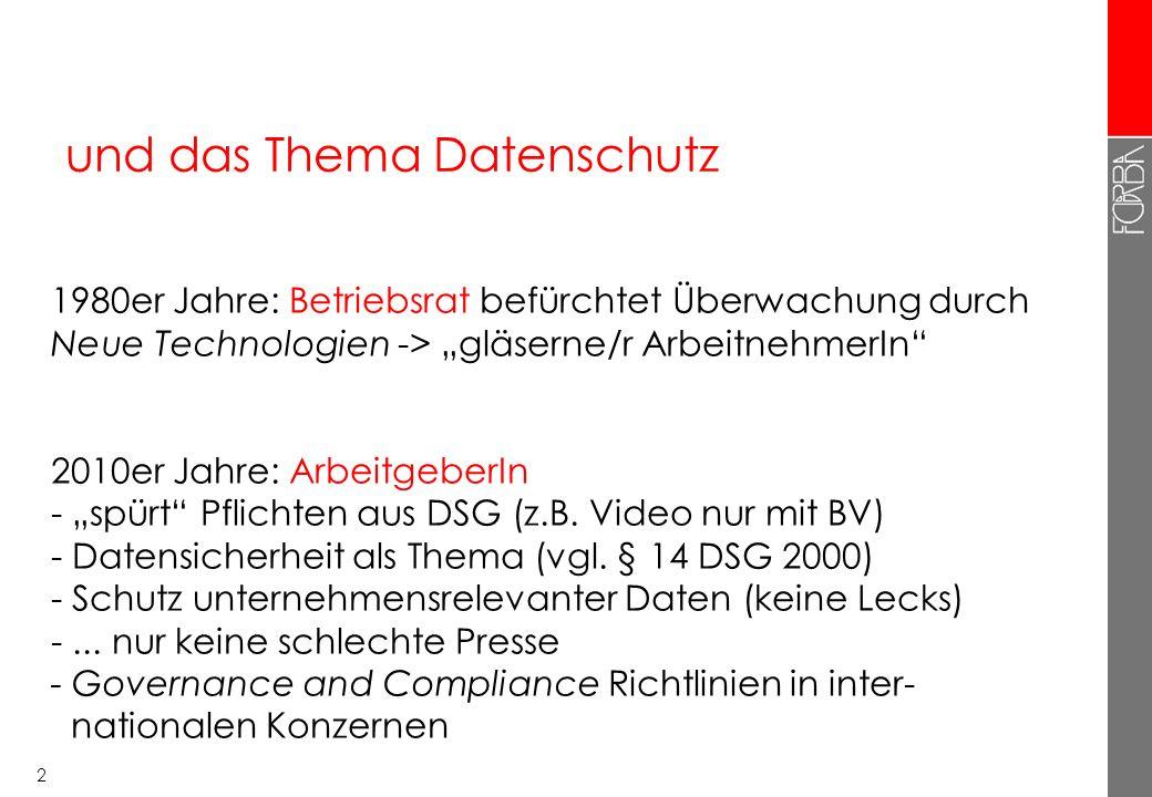 1 Internet und E-Mail am Arbeitsplatz Thomas Riesenecker-Caba Forschungs- und Beratungsstelle Arbeitswelt (FORBA) 18.