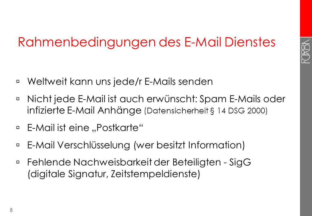 7 E-Mail Kommunikation Server INTERNET